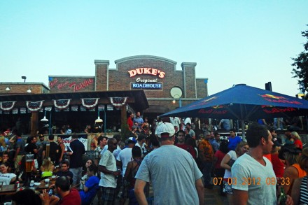 Kaboom Town watching party at Duke's Original Roadhouse in Addison