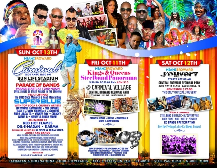There will be a ton of 2013 Miami Broward Carnival festivities!
