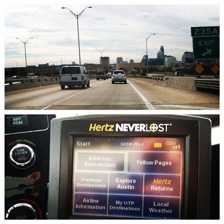 I used Hertz NeverLost to Explore Austin while in town for SXSW
