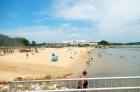 The city beach off of Lake Granbury was a popular destination!