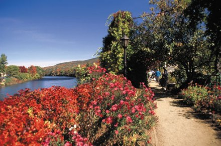Bridge of Flowers in Shelburne Falls (photo credit: Reader's Digest)